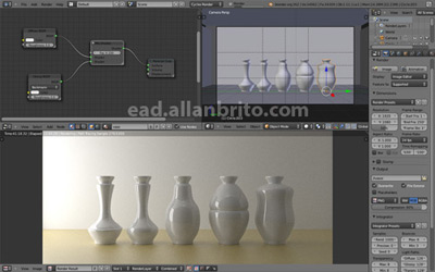 Interface Blender com Cycles