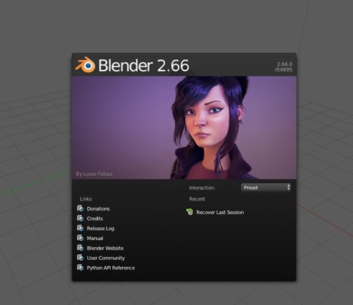Blender 2.66 Splash Screen